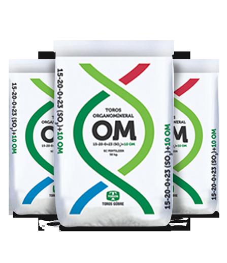 Organomineral 15-20-0+23(SO3)+OM